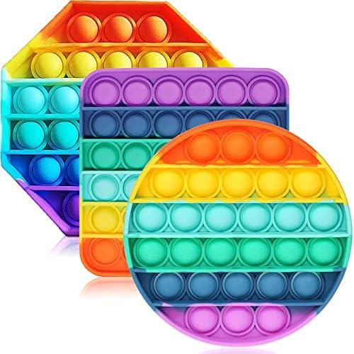 ENTHUR Fidget Toys for Adults and Kids – Bubble Sensory Fidget Toy Push Pop Fidget Toy Squeeze Sensory Toy (3pcs)