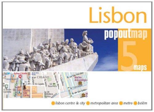 Lisbon PopOut Map - pocket size, pop up Lisbon city map (PopOut Maps)