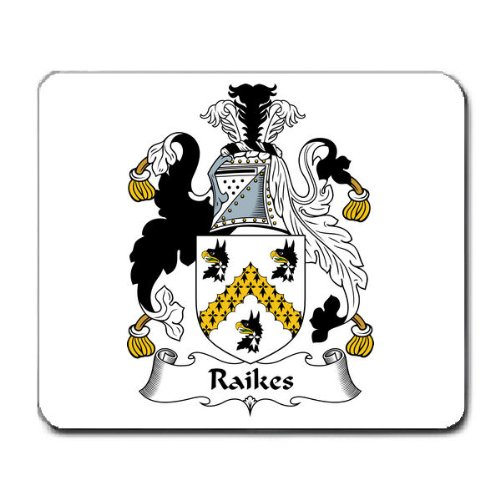 Raikes Family Crest Coat of Arms Mouse Pad