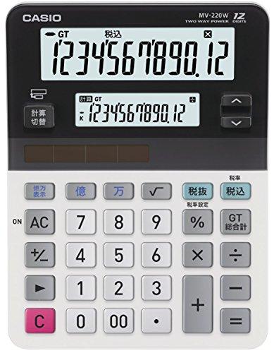 CASIO mini just type twin LCD calculator MV-220W-N (japan import)