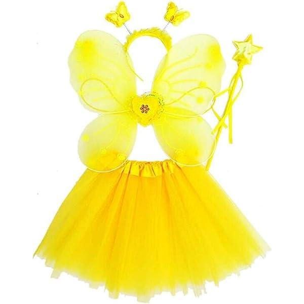 YO-HAPPY Conjunto de Disfraces de Hadas para niñas Falda de tutú ...