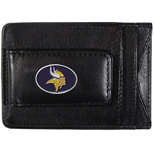 - NFL Minnesota Vikings Leather Money Clip Cardholder