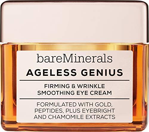 - bareMinerals Ageless Genius Firming and Wrinkle Smoothing Eye Cream, 0.5 Ounce
