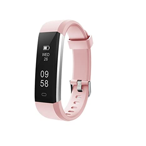 Coloré TM Montre Connectée, ID115U Bluetooth Smart Watch Bracelet Bracelet Podomètre Sport Fitness Tracker (Rose): Amazon.fr: Sports et Loisirs