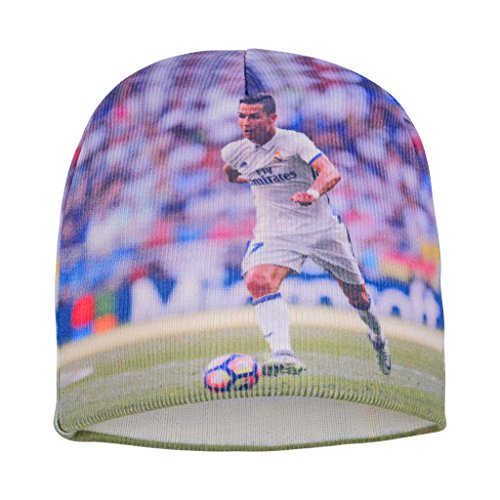 fan products of Forever Fanatics Real Madrid Cristiano Ronaldo #7 Soccer Beanie ✓ Digital Graphic Printing ✓ Pefect Soccer Fan Gift (One Size Fits All, Ronaldo #7 Beanie)