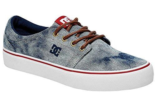 Dc Shoes Trase Tx Se Zapatillas De Caña Baja, Color: Indigo Bleached Vintage, Talla: 43 EU / 10 US / 9 UK