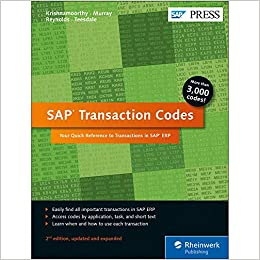 Buy SAP Transaction Codes: Your Quick Reference to Transactions in