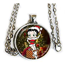 Betty Boop Christmas Present - Pendant Necklace - HM
