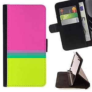 For HTC One A9,S-type Teal riga gialla astratta Pulito Brillante - Dibujo PU billetera de cuero Funda Case Caso de la piel de la bolsa protectora