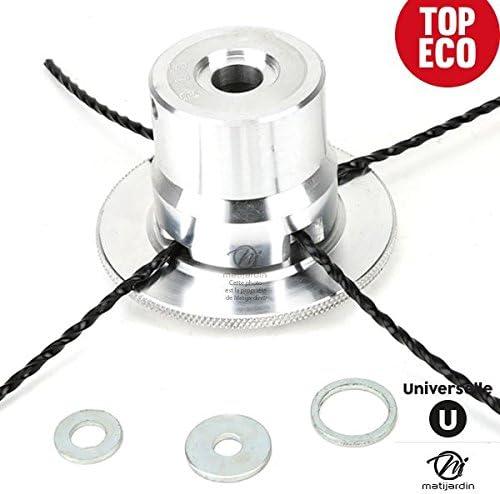 Cabezal para desbrozadora universal de aluminio con 4 hebras ...