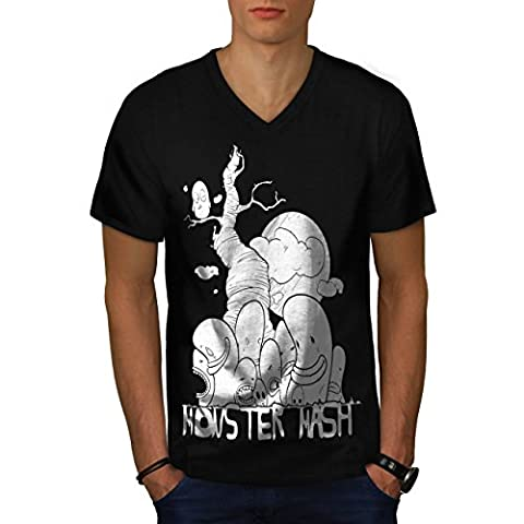 Cute Monster Mash Comic Smiley Men NEW S V-Neck T-shirt   Wellcoda (The Monster Mash Pixie)