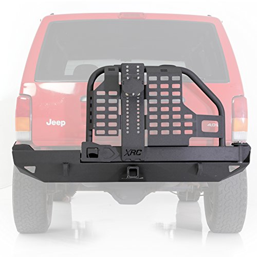 Rear Bumper and Tire Carrier for 1984-2001 Jeep Cherokee XJ ()