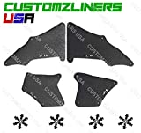 CUSTOMZLINERS USA Splash Shield For 2007-2014 Toyota FJ Cruiser Fender Liner Apron Seals Guards Flaps Skirt Splash