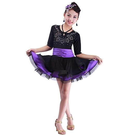 JIE. Traje de Baile Latino niños Primavera y Verano niñas ...