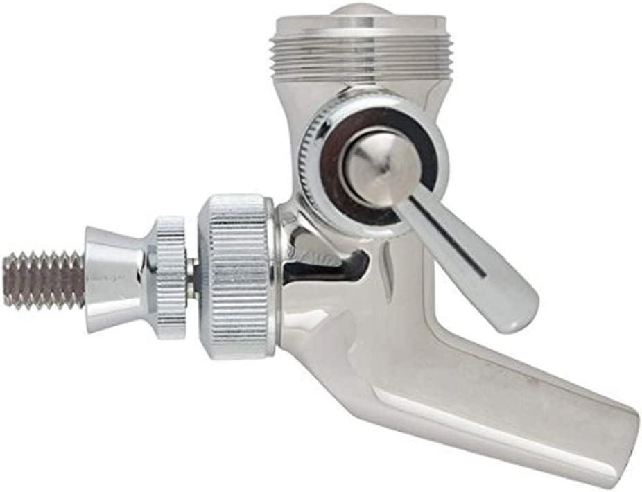 Rekkles Interruptor de Acero Inicio Barra de Control de Flujo Ajustable Inoxidable Grifo de Cerveza Caña Barril Grifo dispensador