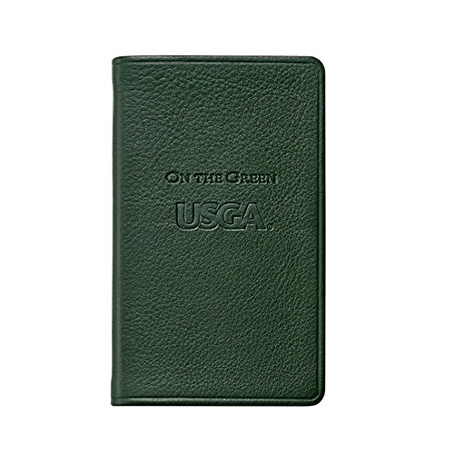(USGA On The Green, Golf Score & Rules Book, Genuine Calfskin Leather, 3
