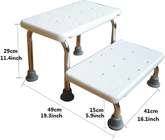 Denzihx Bañera Escabel Antideslizante,Cuarto de baño Escalera Taburete Niños Adulto-A: Amazon.es: Hogar