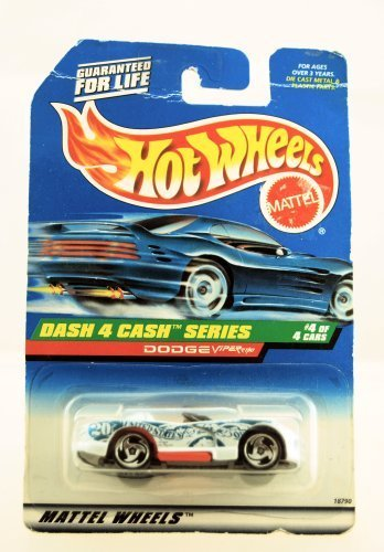 - Hot Wheels - 1998 - Dash 4 Cash Series - Dodge Viper RT/10 - Special $20 Bill Paint Job - Collector #724 - Limited Edition - Collectible 1:64 Scale