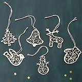 Crib Combo Sets Sale Hot Sale!DEESEE(TM)6Pcs Wooden Christmas Tree Pendant Xmas Wedding Tree Hanging Ornament Decor