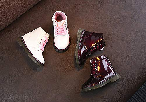 Botas Militares para Unisex Bebé Niños Niñas Otoño Invierno 2018 Moda PAOLIAN Botines de Agua Planos con Cordones Zapatos Primeros Pasos para Niñas Fiesta ...