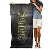 Annabelle Green Bey Football Logo Beach Towel