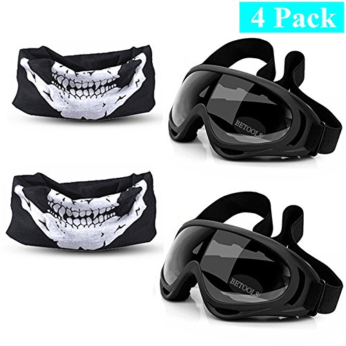 2-Sets Tactical Mask and Goggles for Nerf Guns N-Strike Elite Series Foam Gun Blaster Face Mask Eye Shield Goggles (2 Masks, 2 Adjustable Goggles) Elite Series Wrap