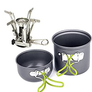 Amazon.com : EIALA Camping Stove + Camping Pot Backpacking