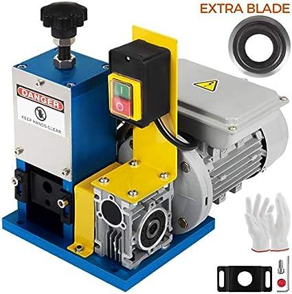 Mophorn Máquina de Pelacable 220V Máquina Peladora de Cables Automática para Pelar Cables 1.5mm - 25mm Adecuado para Varios Tipos de Cable Redondo y Cable Plano con Cubierta Wire Stripping Machine