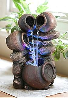Fontaine Du0027Intérieur à LED Changeantes 4 Pots   Zen Et Relaxation