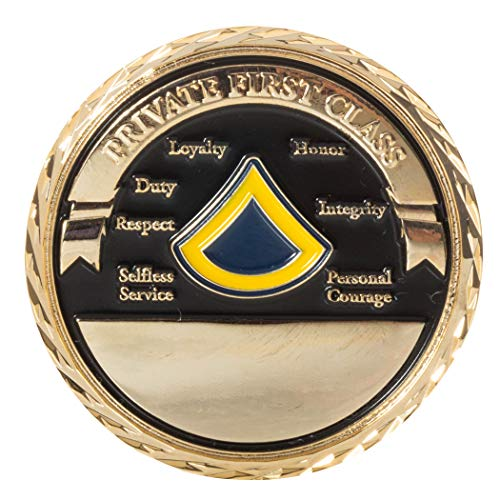 (United States Army Private First Class Enlisted Soldier Rank Challenge Coin)