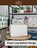 HUNRUNG Rectangle Storage Basket Cute Canvas
