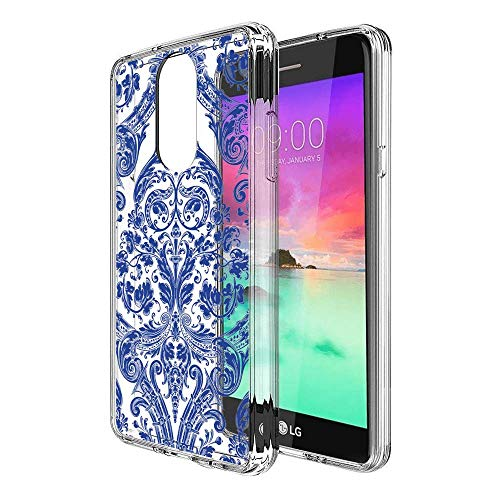 Creative Designs Blue and White Porcelain Patterns Crystal Transparent Anti-Scratch Phone Case for LG Stylo 4
