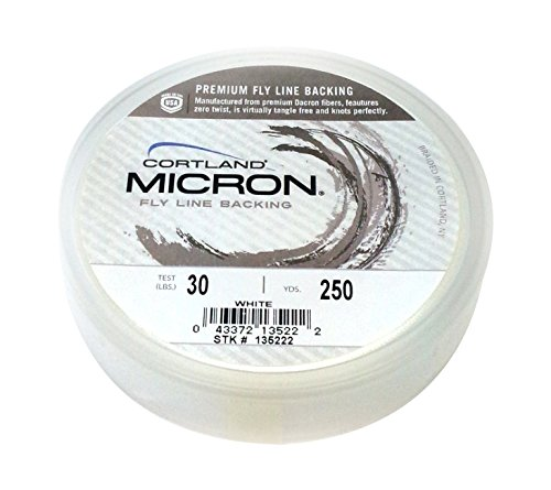- Cortland Micron Backing, White 250 YD, 30 LB