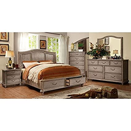 247SHOPATHOME IDF-7613CK-6PC Bedroom Set California King Oak