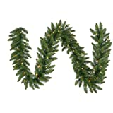 Vickerman 50' x 14'' Pre-Lit Camdon Fir Commercial Artificial Christmas Garland - Multi LED