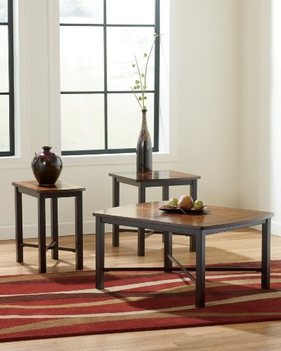 Contemporary 3 Pc Occasional Table Set Coffee and End Tables