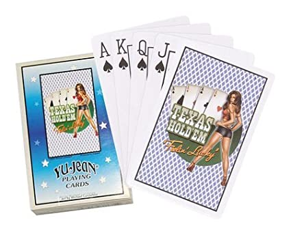Texas Hold Em Feelin Lucky - Deck of Playing Cards Yujean