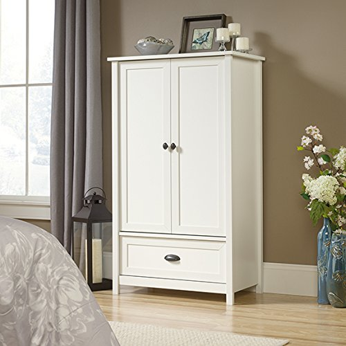 Fantastic Deal! Sauder County Line Armoire in Soft White