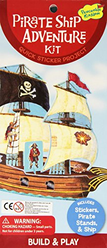 (Peaceable Kingdom Pirate Ship Quick Sticker Kit )
