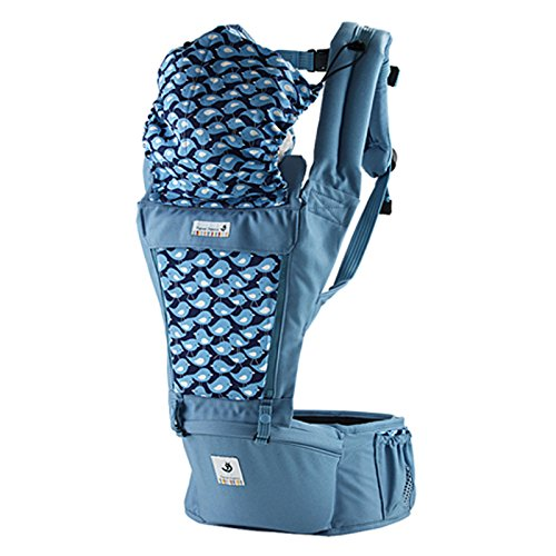SINNAYEO - Orga Blueberry Organic Cotton Baby Hip Seat Carrier by SINNAYEO