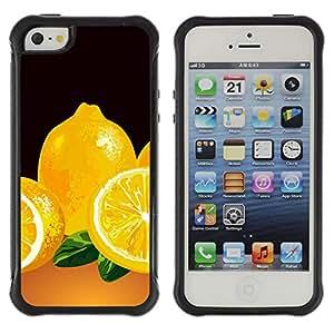 ZAAAZ Rugged Armor Slim Protection Case Cover Durable Shell - Minimalist Lemon Painting - Apple Iphone 5 / 5S