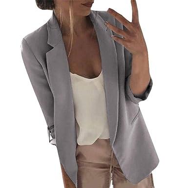 STRIR Mujer Chaqueta Entallada Básica Blazer Americana ...