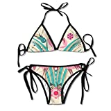 FDJKHY Personalized Women Bikini-A Couple Of Flaminos Swimsuit Beachwear