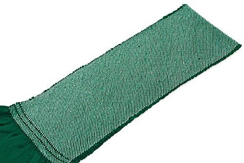 帯揚げ 深緑色 グリーン 正絹 四つ巻 無地 総絞り 鹿の子 帯あげ おびあげ 成人式向き 振袖向き ふりそで