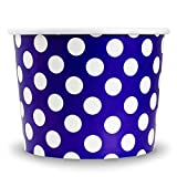 #6: Purple Paper Ice Cream Cups - 16 oz Polka Dotty Disposable Bowls - Comes In Many Colors With Fast Shipping! Frozen Dessert Supplies - 1,000 Count