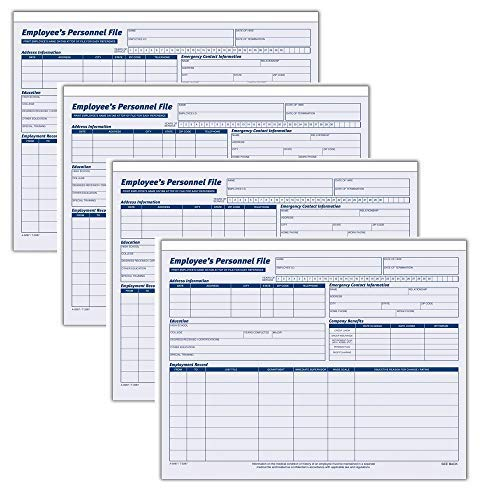 Adams Employees Personnel File Folder, Heavy Card Stock, 11-3/4 x 9-1/2 Inches, Pack of 20 Folders (9287ABF), 4 Pack by Adams
