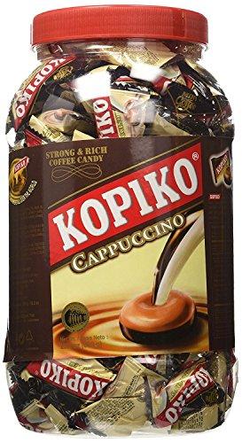 Coffee Candy Hard - Kopiko Coffee Candy, Cappuccino in JAR 28.2 OZ