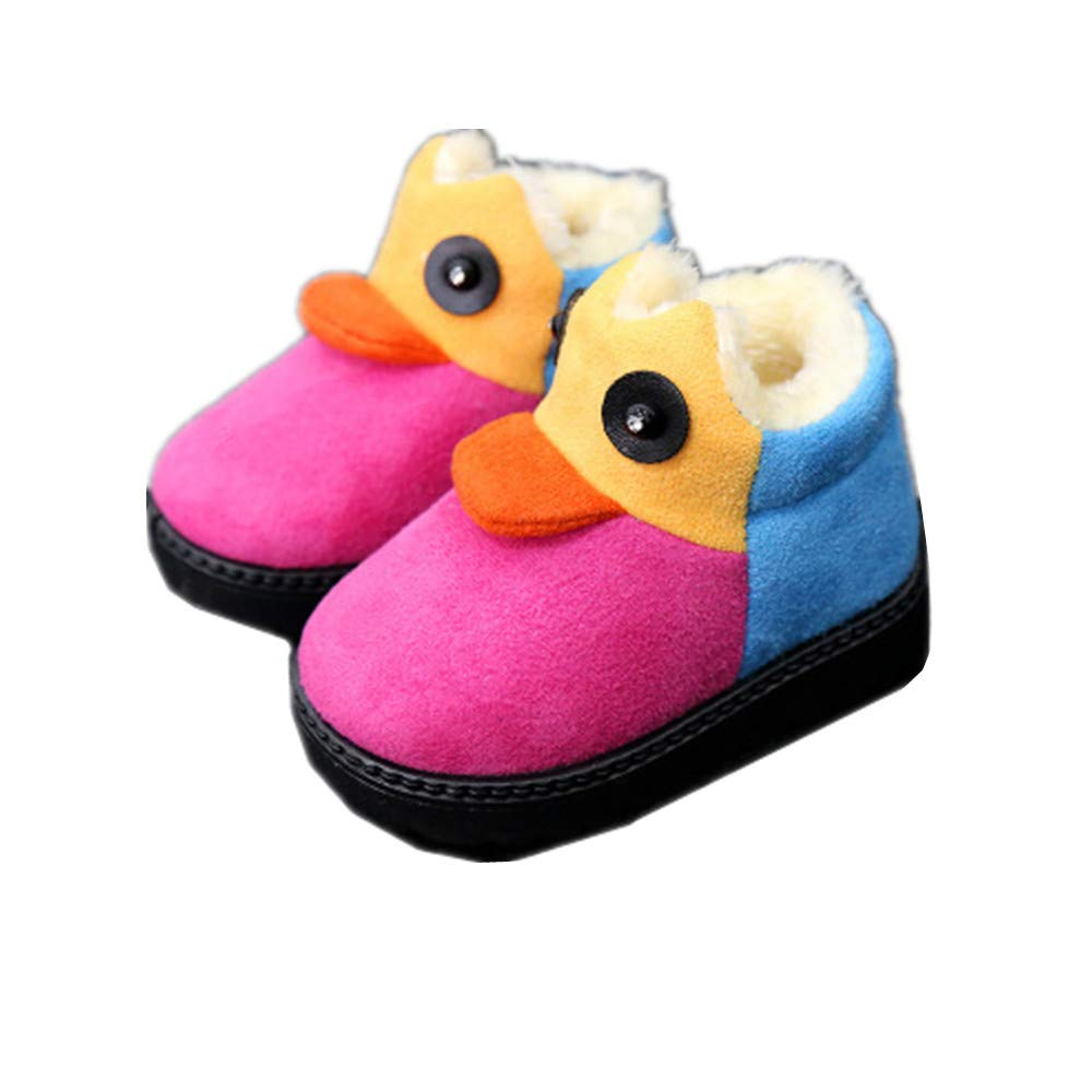 IINFINE Girls Boys Warm Winter Flat Shoes Snow Boots Toddler//Little Kid