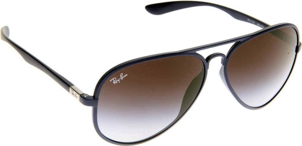 Ray-Ban Liteforce Tech Aviator Sunglasses in Matte Blue RB4180 883 8G 58 58  Grey Gradient  Amazon.fr  Sports et Loisirs 2209f48354b3