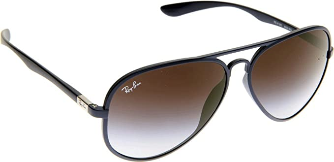 61acf79f3e Ray-Ban Liteforce Tech Aviator Sunglasses in Matte Blue 58 Grey Gradient